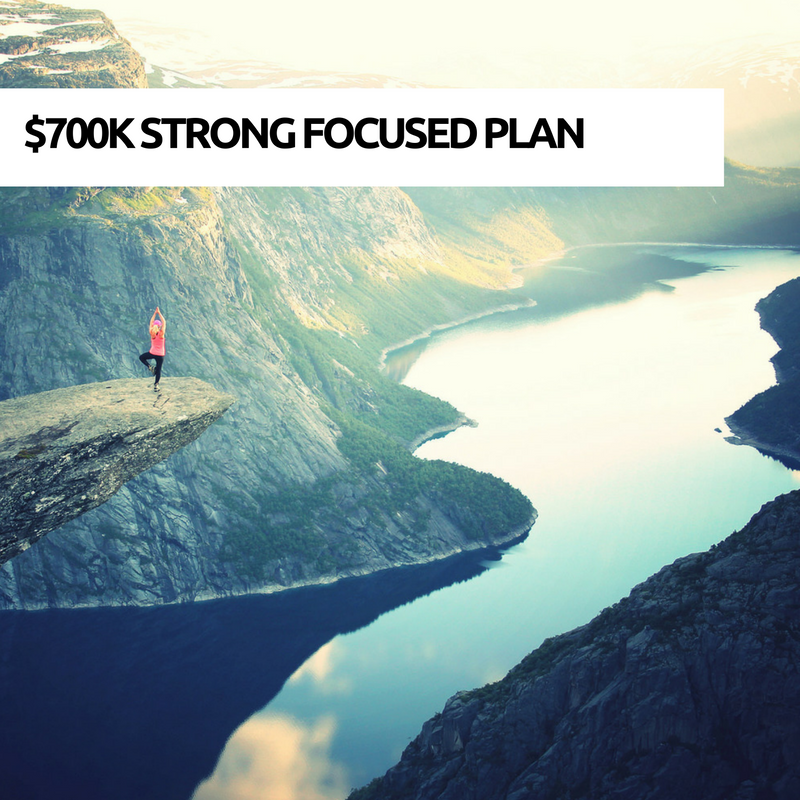 $700k strong focused plan